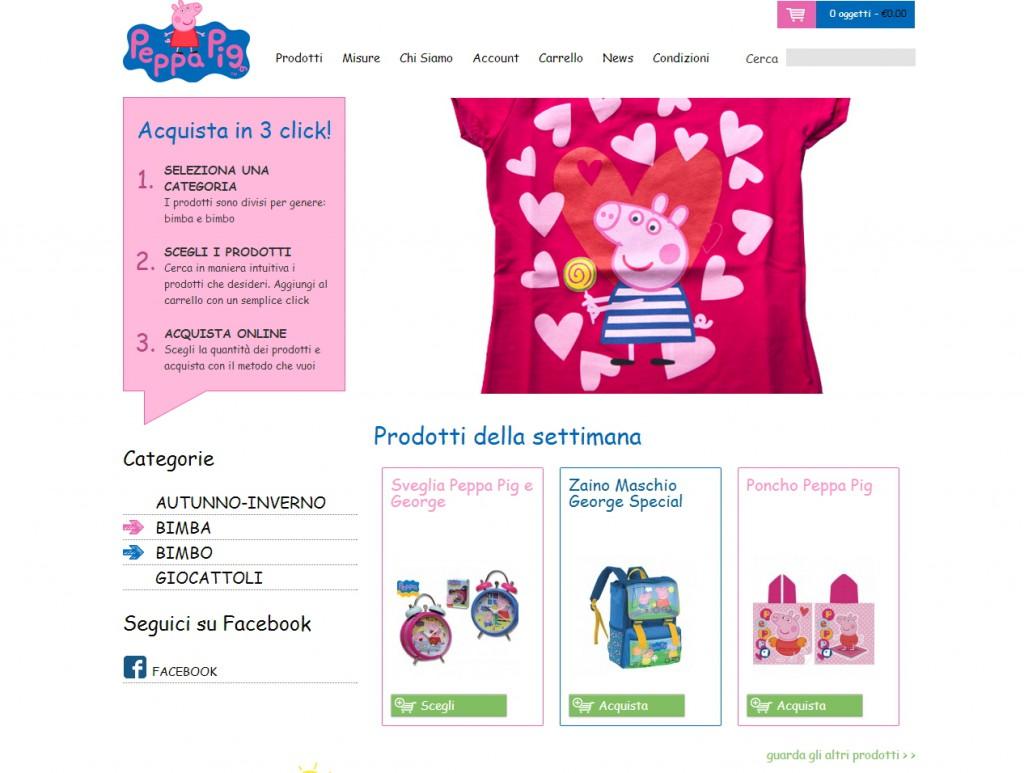 Peppa Pig Italia - sviluppo web - Michele Settembre