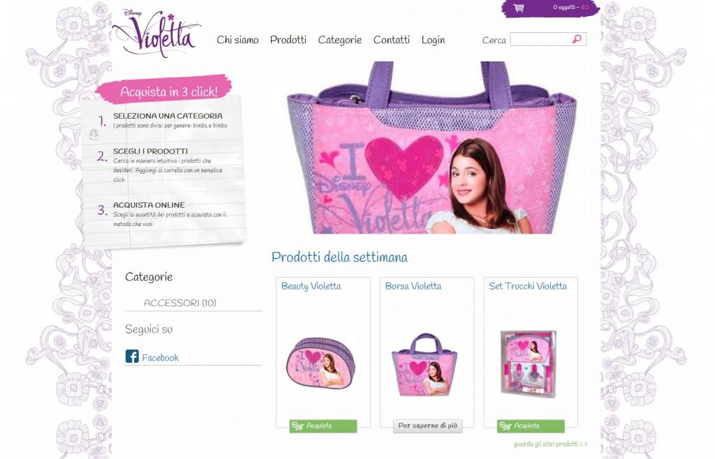 Violetta Italia - sviluppo web - Michele Settembre