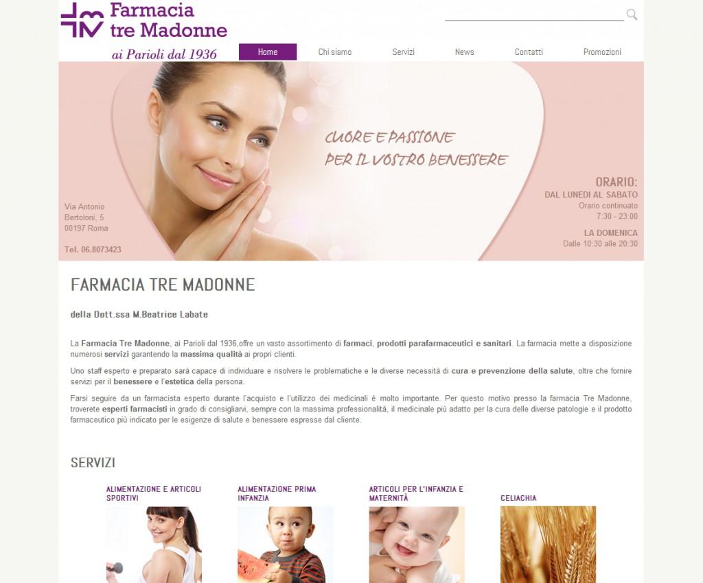 Farmacia tre madonne - sviluppo web - Michele Settembre