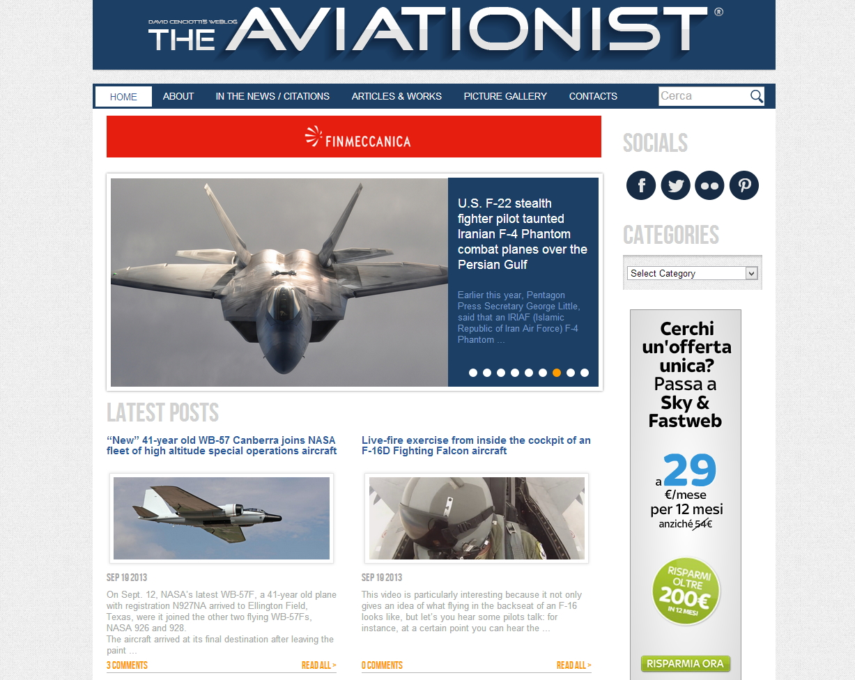 The aviationist - sviluppo web - Michele Settembre