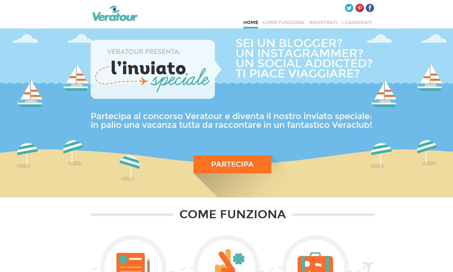 Veratour L'inviato speciale - sviluppo web - Michele Settembre