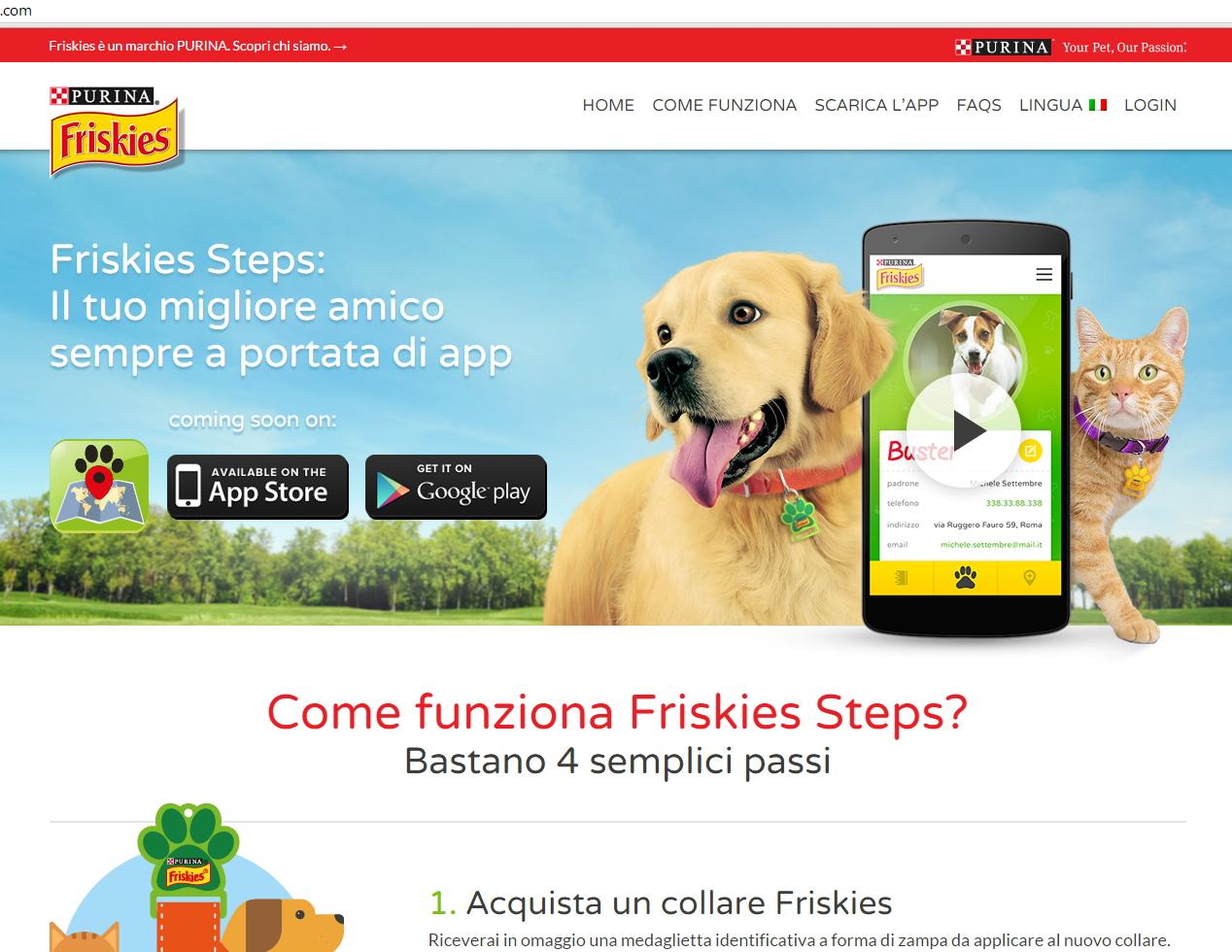 Friskies steps - sviluppo web - Michele Settembre