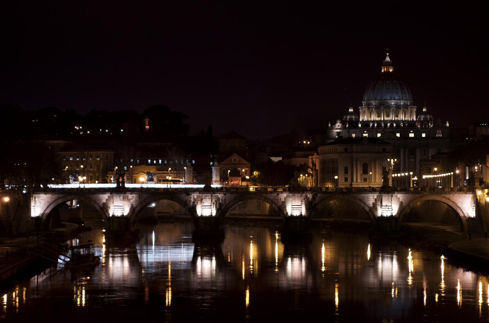 Fotografia in Roma - Il Ponte degli Angeli e la Basilica di San Pietro da Ponte Umberto I - Michele Settembre