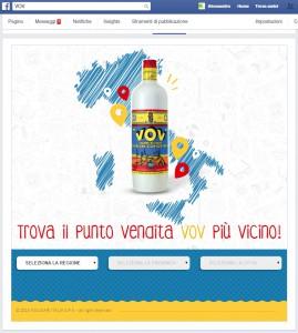 Store Locator di VOV su Facebook - Lavoro WEB - Michele Settembre