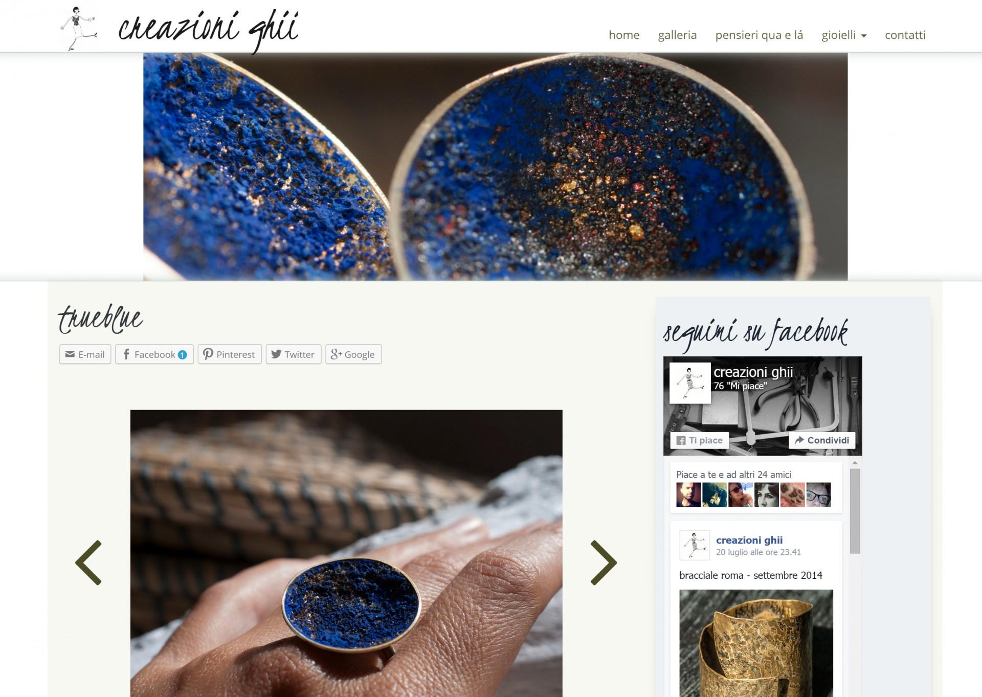 Creazioni ghii - lavori web - Michele Settembre