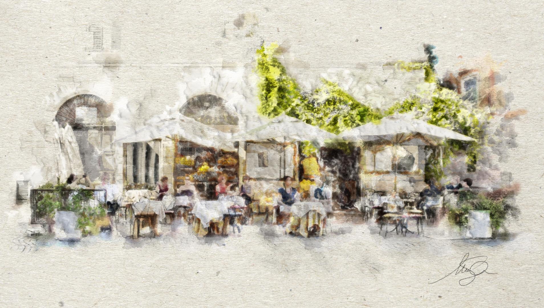 Roma - Disegni e Dipinti - Il Caffé delle Arance
