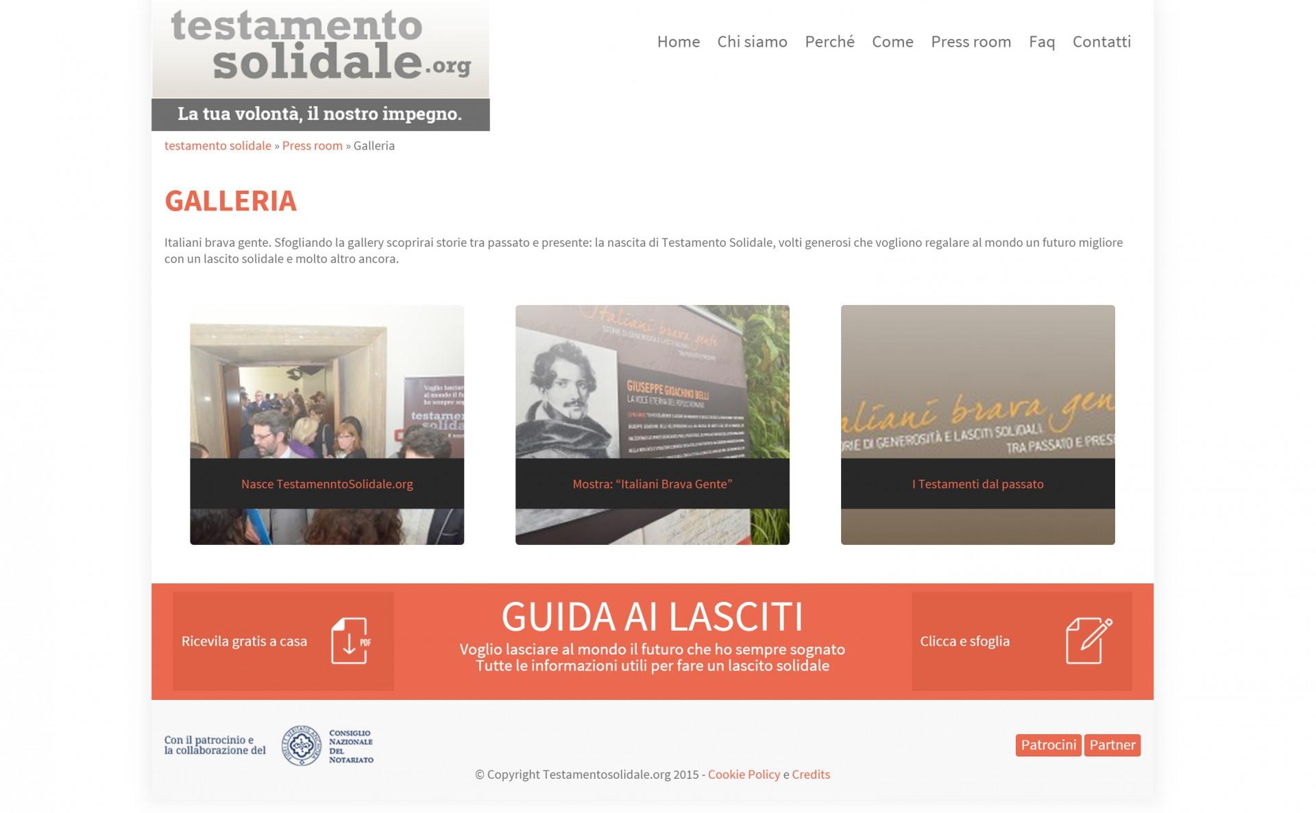 Testamento Solidale - Sviluppo Web - Michele Settembre