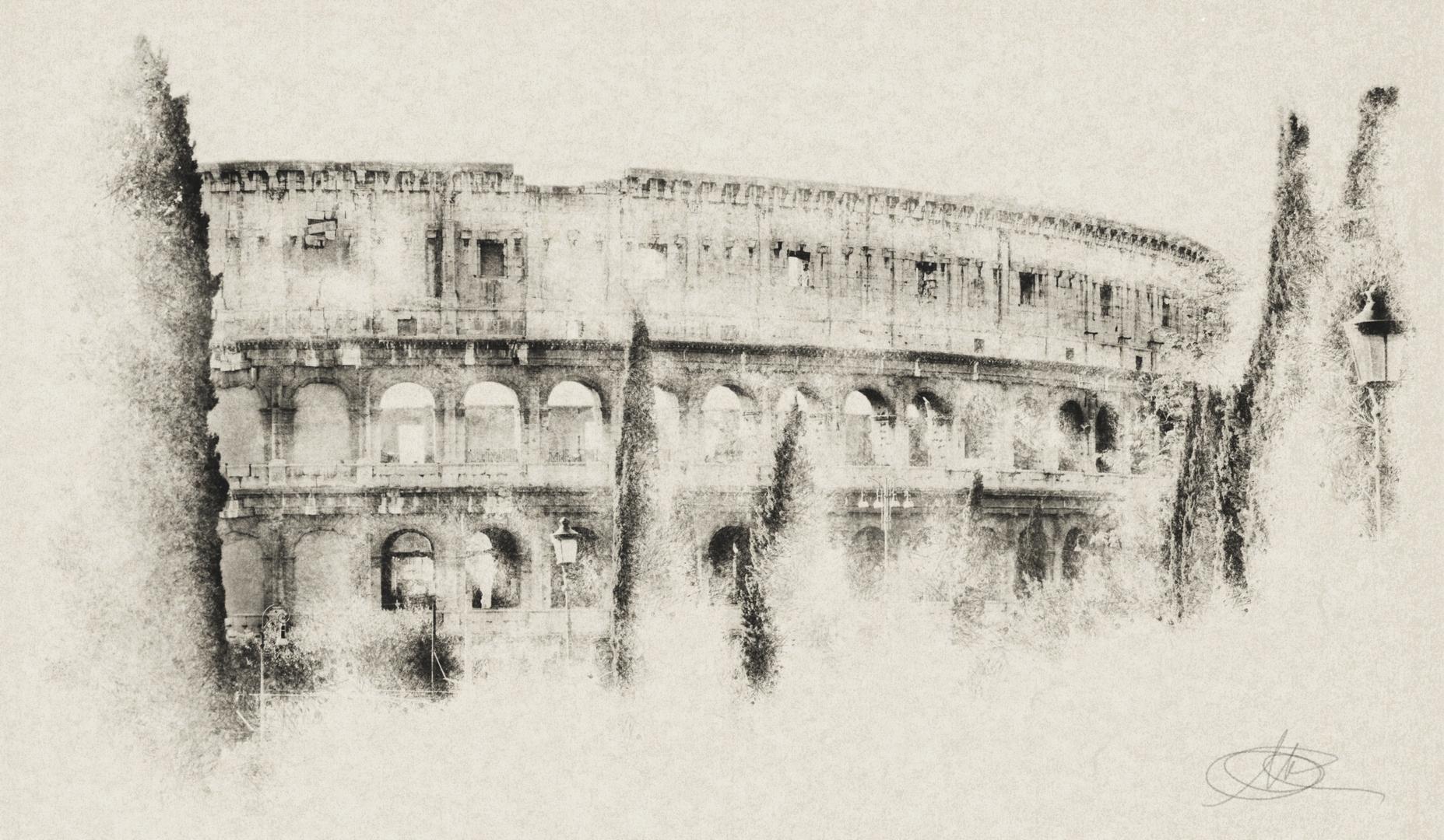 Fotografia in Roma - Il Colosseo visto dal parco della Domus Aurea - Michele Settembre