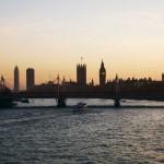 Londra, dal Waterloo Bridge verso Westminster Abbey