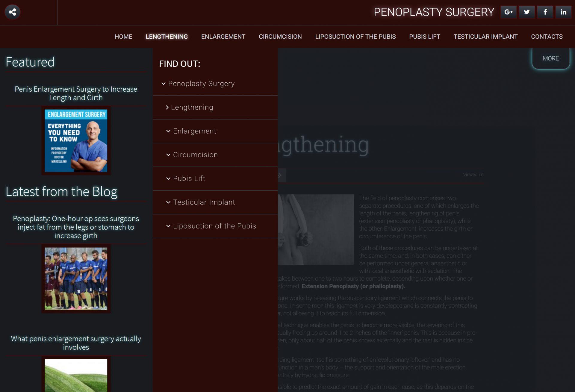 Michele Settembre - Sviluppo web - penoplastysurgery.com