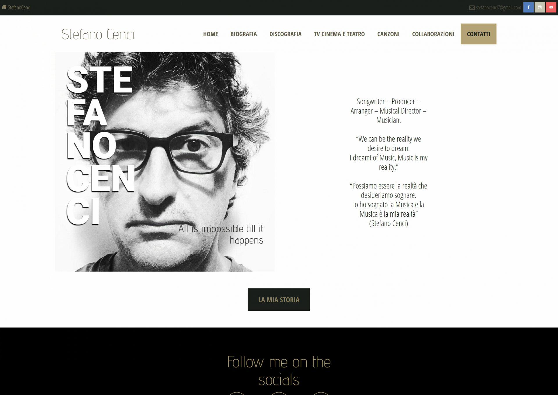 Michele Settembre - lavori web - stefanocenci.net