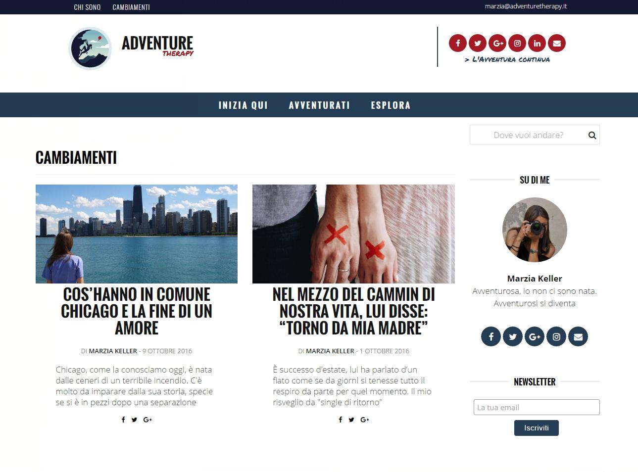 Michele Settembre - Adventure Therapy